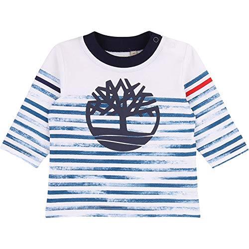Timberland T-Shirt à Manches Longues Bebe Couche Blanc 12MOIS