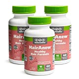 HairAnew Hair Skin and Nails Vitamins for Women & Men - Trusted Hair Supplement - Vegan - 11 Hair Vitamins & Ingredients for Growth in Confidence & Appearance - 5000mcg Biotin - 60 Capsules (3)