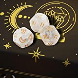 Hellery 3 Piezas de Dados de astrología, Dados de Juego...