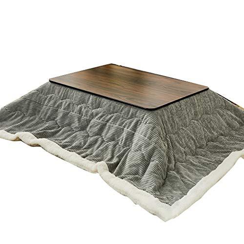 Juego De Futón Y Kotatsu De Estilo Japonés Calentador De Almacenamiento Plegable Japonés Doméstico Mesa De Té con Estufa Tatami Kotatsu (Color : Gray, Size : 75 * 75cm)