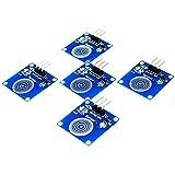 AZDelivery 5 x TTP223B Módulo de conmutador capacitivo con sensor táctil digital para Arduino con eBook incluido