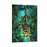Steampunk Diver Poster Decoraciones Póster Cuadro Decorativo Lienzo Arte de la Pared de la Sala de estar Carteles de Dormitorio Pintura 20x30cm
