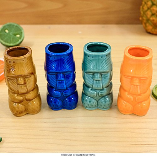 Island Tiki Shot Glasses Set of 4
