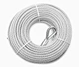 Lifstar- Blue Hawk Commercial Uncoated weldless Cable in Clamshell, 1/4' Diameter, 100' Length, 1400 lbs Working Load Limit, 7x19 Construction, Heavy Duty Wire Rope