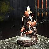 Quemador de Incienso de reflujo de cerámica Quemador Ceramico Craftsman Handmade Art Craft Red Jar and Gourd