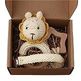 GLASSNOBLE Cadena para chupete de 3 piezas, regalo de ducha, para bebé, con clip de ganchillo, juguetes cómodos 2 #