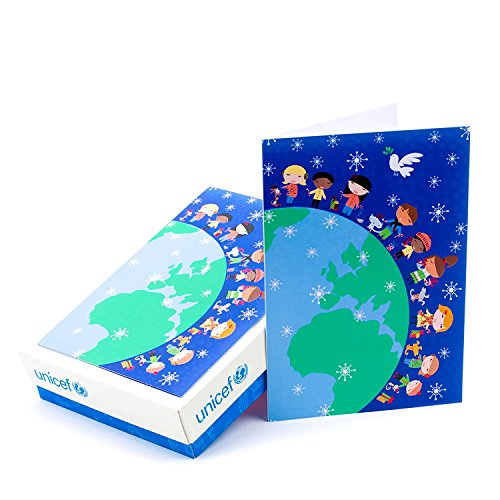 Hallmark UNICEF Boxed Christmas Cards, Children Around the World (20 Cards and 21 Envelopes)