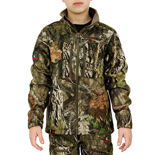 Mossy Oak Youth Hunting Jacket, Youth Hunting Clothes, Sherpa Youth Camo