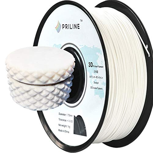 PRILINE PETG-1KG 1.75 3D Printer Filament, Dimensional Accuracy +/- 0.03 mm, 1kg Spool, 1.75 mm, White