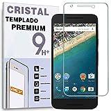 REY Protector de Pantalla para Google LG Nexus 5X Cristal Vidrio Templado Premium