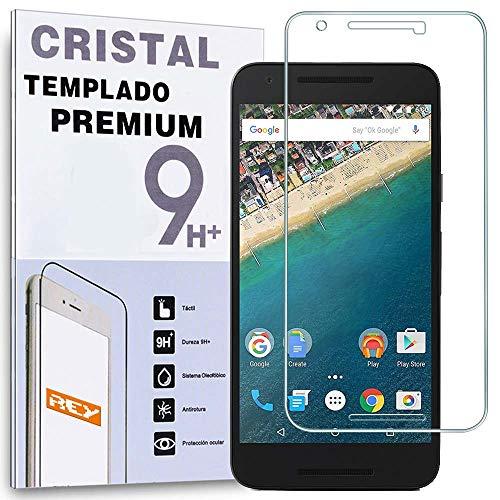 REY Protector de Pantalla para Google LG Nexus 5X Cristal Vidrio Templado...