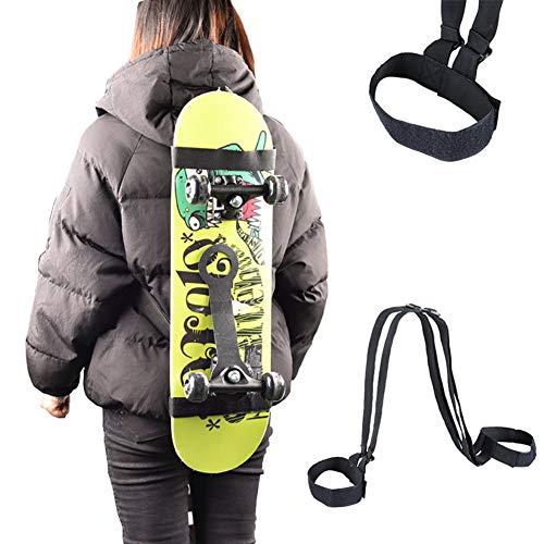 Sarpico Universal Skateboard Schulterträger Rucksackgurt Strapazierfähigkeitiges verstellbares Snowboard Longboard