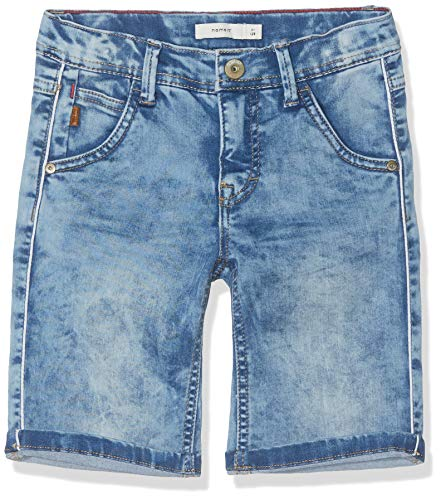 NAME IT Jungen NKMSOFUS DNMCLAS 1161 Long Shorts, Blau (Light Blue Denim), (Herstellergröße: 152)