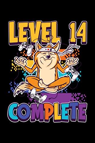 Level 14 Complete: A5 Liniertes Notizbuch auf 120 Seiten - Gaming Gamer Notizheft | Geschenkidee für Zocker, Gamer, Konsole und PC Spieler