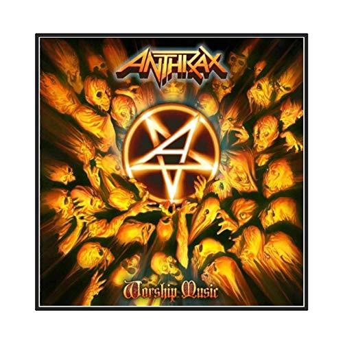 chtshjdtb Anthrax Music Rapper Album Cover Poster Picture Sfondo Wall Decor Home Living Room Decoration -60X60 CM No Frame 1 PCS