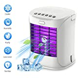 Bcamelys Portable Air Conditioner, Personal Air Cooler, Fan, Mini Space Evaporative Cooler, 3 Speed Quiet Air Purification Humidifier Misting Fan, Small Desk Cooling Fan for Home, Office, Dorm
