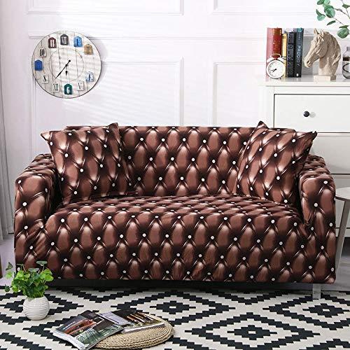 ASCV Funda de sofá geométrica elástica elástica Moderna Funda de sofá para Silla Fundas de sofá para Sala de Estar Protector de Muebles A9 2 plazas