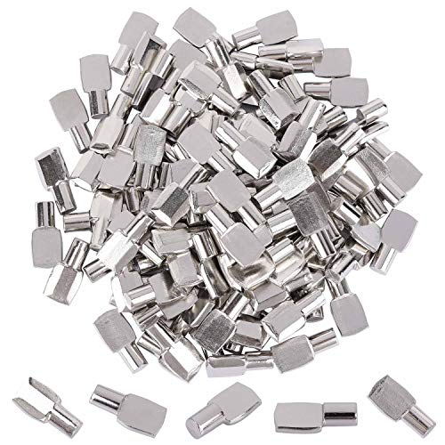 7 mm Shelf Support Pegs Spoon Bookshelf Pins Cabinet Shelves Peg Metal Bookcase Clips for Kitchen Shelf Holder (100 pcs)