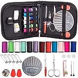 Kit de Costura, kits de costura portátiles Accesorios de Costura de Transporte Suministros de costura de viaje para principiantes, viajeros, emergencias