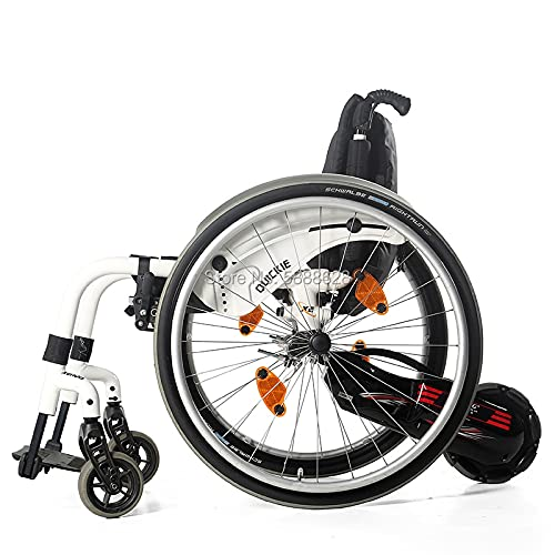 JINKEBIN Electric Rollstuhl Behinderte Zubehör Rollstuhl Handbike Fahrradanhänger 100W Motor 24V / 4.4Ah Batterie Handbike (Color : Rigid WC Connect)