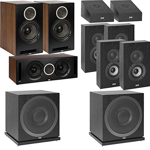 Lowest Price! ELAC Debut Reference DBR62 Bookshelf 9.2 Dolby Atmos Home Theater System with On-Wall ...