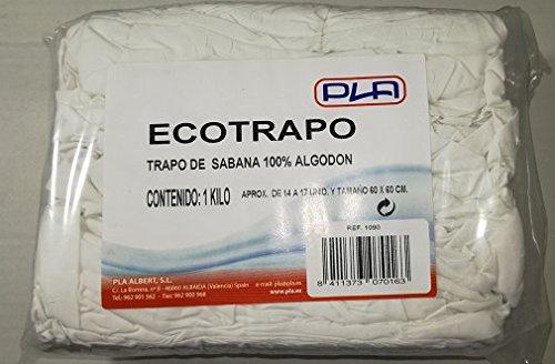Pla Albert Trapo de Sabana de Limpieza 100% algodón ECOTRAPO 1 kg