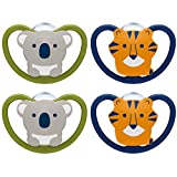 NUK Space Orthodontic Pacifiers, 6-18 Months, 4 Pack