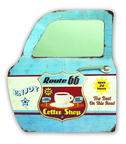 Zep YY613 Plaque métal décor Miroir Bleu, Rouge, Jaune, Blanc, 47 x 42 x 8 cm