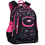 Cartable Fille, COOFIT Sac a Dos Fille Primaire en Nylon Cartable Enfant Primaire Sac Ecole Fille Sac a Dos pour Primaire Scolaire...