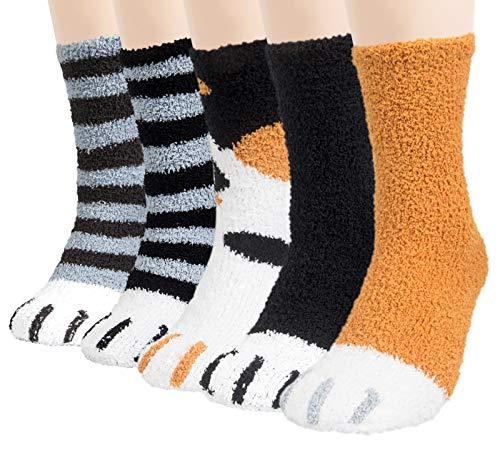 Chalier 5 Paar Kuschelsocken Herren Bettsocken Kuschel Flauschig Weiche Socken Haussocken Warme Dicke Business Herren Socken 42-47(EU) MEHRWEG
