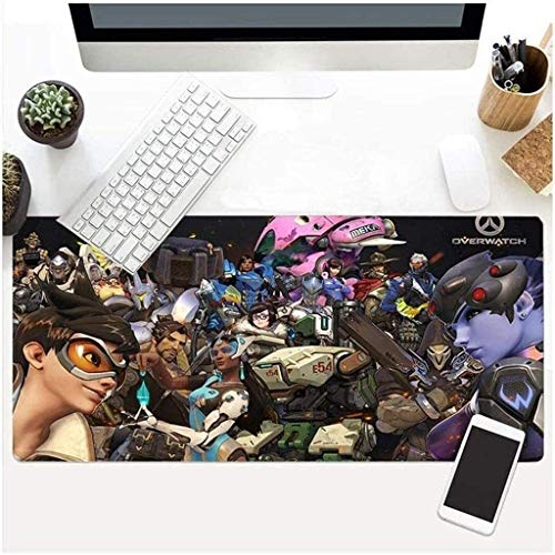 QZKFJ Gaming Mouse Mat, Große Mauspad XXL Bequeme Extended Keyboard Gaming Pad Wacht OW Reaper Gabriel Reyes Spiel Tastatur Mat (Color : C, Size : 800 * 300 * 3mm)