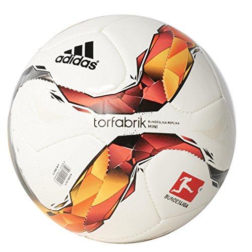 adidas DFL Mini-Fußball, Weiß/Rot/Orange/Schwarz, Größe 1