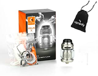 GeekVape Zeus X RTA 2 ml Diámetro de 25 mm para bobina simple/doble sin tabaco, sin nicotina (plata)