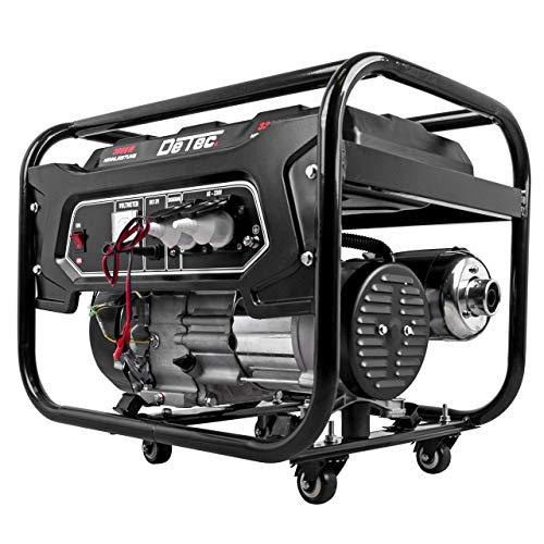 DeTec -Generador eléctrico de gasolina, genera corriente de 3,3kW/3300W 230V, grupo electrógeno para emergencias