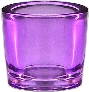 Bluecorn Beeswax Heavy Glass Votive and Tea Light Candle Holders (1, Lilac)