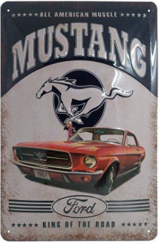 Ford Mustang Blechschild