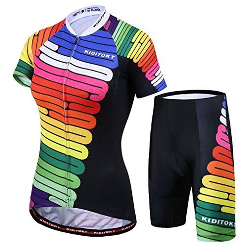 X-Labor – Juego de maillot de ciclismo para mujer, secado rápido, camiseta...