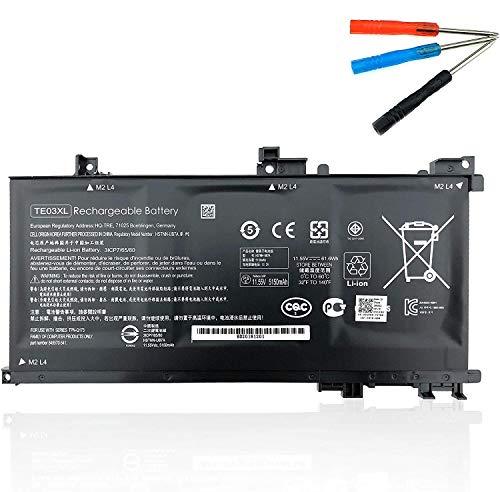 Emaks TE03XL Battery TE03061XL for HP Omen 15-ax000:15-ax033dx 15-ax210nr 15-ax001ns;HP Pavilion 15-bc000:15-bc008tx and More 849910-850 849570-541 542 543 HSTNN-UB7A TPN-Q173-11.55V 61.6Wh 3-Cell