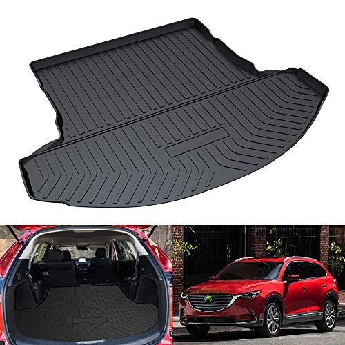 Mixsuper Cargo Liner for CX9 Durable Odorless All Weather 3D Rear Behind 2nd Row Trunk Floor Mat for Mazda CX-9 2016-2021