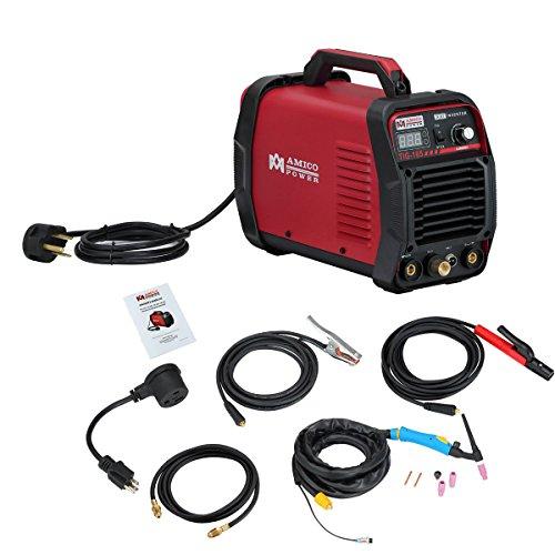 TIG-165, 160 Amp HF TIG Torch Stick Arc Dc Inverter Welder, 110V/230V Dual Voltage Welding