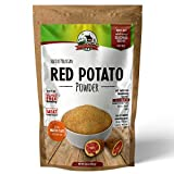 Peruvian Rare RED Potato Powder – Ideal Meat Replacement - Make your own Veggie Burger, Veggie Patties, Kebabs, Soup, Mashed Potatoes etc. (250 gms ) Gluten free- Non GMO–Includes Sachet of Herb Mix