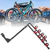 AYNEFY - Portabicicletas con enganche para 4 bicicletas, plegable, 89 x 39 x 87 cm