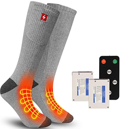 REIFUT Heated SocksElectric Foot Warmers with 4 Heating Settings, Battery Heated Thermal Heating...