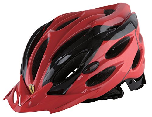 Ferrari Adult Sports Bicycle Cycling, Road/Mountain Helmet, Protecting, Lightweight, Helmet, Black/Red.