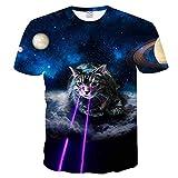 BMSYTY T-Shirt 3D Miahen DXSY639, Top a Maniche Corte Colletto Rotondo per Uomini e Donne, Tees Casual Unisex 3D con Design per Gatti-l