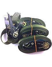 iapyx - Correas con carraca (4 unidades, 5 m, 400/800 kg), color verde oscuro