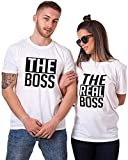 Couple Shirts Pärchen T-Shirts für Zwei Paar Shirts Set Partnerlook T Shirt (Weiß Herren XL)