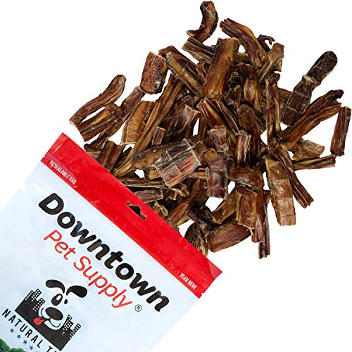 Downtown Pet Supply USA Bully Stick Bites Chew Meaty Bits Treats, All Natural Beef for Small, Medium, and Large Dogs (1 lb)