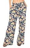 urban goco donne pantaloni stampa floreale casual gamba larga palazzo pantaloni larghi (small, 1)