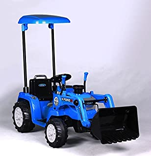 Beyond Infinity Ford Tractor with Loader, Battery Powered Wheel 12V Ride On, 50.4